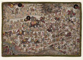 A painting depicting Battle of Haldighati   Wikimedia