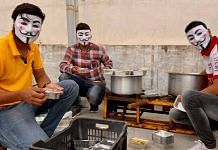 A group on men in Bhopal have been going out and distributing food to the needy wearing Guy Fawkes masks. They say their relief efforts aren't about gaining publicity for themselves | Nirmal Poddar | ThePrint