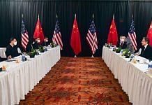 The US-China Alaska summit that took place in March 2021 | Twitter