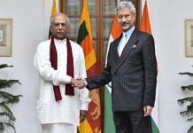 File image of External Affairs Minister S. Jaishankar with his Sri Lankan counterpart Dinesh Gunawardena | Twitter | @MFA_SriLanka