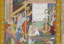 A painting from Akbarnama   Young Akbar recognises his mother   Wikimedia Commons