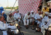 Protesting farmers at Rohad toll tax in Haryana in June 2021 | Suraj Singh Bisht | ThePrint