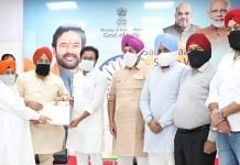 Sikh delegation meets Minister of State for Home Affairs G Kishan Reddy in New Delhi, on 29 June 2021