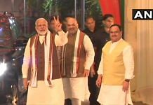 Prime Minister Narendra Modi with Home Minister Amit Shah and BJP president JP Nadda on 11 June 2021 | Twitter/@ANI