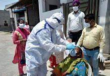 A rapid reaction team in Patiala district collects samples for Covid testing | Photo by special arrangement
