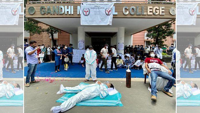 Doctors protest at the Gandhi Medical College, Bhopal | Nirmal Poddar | ThePrint