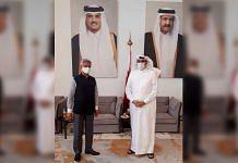 External Affairs Minister S Jaishankar with Qatar's National Security Advisor Mohamed Bin Ahmed Al Mesned, on 9 June 2021 | Twitter/@DrSJaishankar