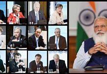 PM Modi virtually addressing the G7 Summit | Twitter @MEAIndia