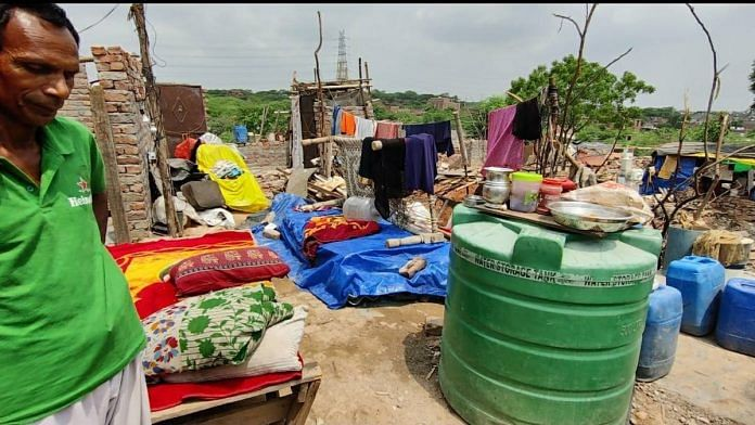 Many residents of Khori village continue to live in the area, without a roof, after their homes were demolished   Shubhangi Misra   ThePrint