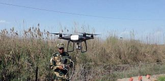 A BSF trooper operates a drone near Chenab river, Akhnoor, in Jammu, in this February 2021 image   Representational photo   ANI