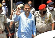 Raijor Dal MLA Akhil Gogoi produced before a special National Investigation Agency (NIA) court in Guwahati on 22 June 2021.   Photo: ANI