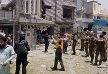 Blast outside Hafiz Saeed's house in Lahore, Pakistan, on 23 June 2021   Twitter/ @EhEhsanullah