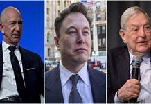 Amazon founder Jeff Bezos, Tesla founder Elon Musk and financier George Soros (file photo)   Bloomberg/Flickr