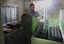 Prabir De, a dealer, shows the unsold stock lying at his house | Manisha Mondal | ThePrint