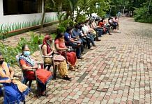 People waiting to receive Covid-19 vaccine during a vaccination camp in Navi, on 28 June 2021 | PTI Photo