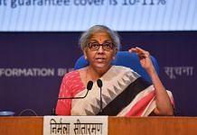 Union Finance Minister Nirmala Sitharaman addresses a press conference in New Delhi, on 28 June 2021 | PTI