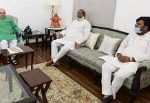 Nishad Party chief Sanjay Nishad meets Home Minister Amit Shah in Delhi on Thursday | Photo by special arrangement