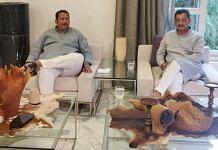Shivaji descendants and BJP Rajya Sabha MPs Udayanraje Bhosale and Sambhajiraje Chhatrapati meet in Pune | Twitter | @Chh_Udayanraje
