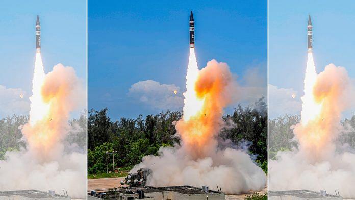 Agni P missile