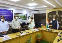 Health Minister Harsh Vardhan at the launch of the event, on 1 June 2021 | Twitter/@drharshvardhan