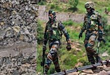 Indian Army jawans patrol near Line of Control (LoC) in Poonch, on 28 June 2021 | Representational image | PTI