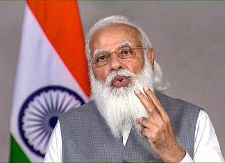 Prime Minister Narendra Modi delivers the keynote address at the 5th edition of VivaTech in New Delhi, on 16 June 2021 | PTI