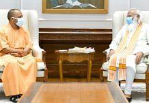 Uttar Pradesh Chief Minister Yogi Adityanath with Prime Minister Narendra Modi in New Delhi, on 11 June 2021 | Twitter/@myogiadityanath