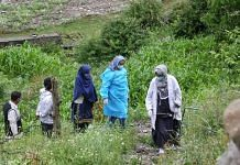 A team of healthcare workers on their way to a vaccination drive in Kashmir's Naranag village in Ganderbal district   Photo: Praveen Jain   ThePrint
