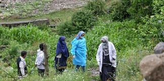 A team of healthcare workers on their way to a vaccination drive in Kashmir's Naranag village in Ganderbal district | Photo: Praveen Jain | ThePrint