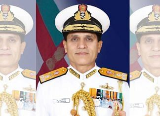 File photo of Vice Admiral SN Ghormade | Twitter/@indiannavy