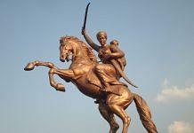 Rani Lakshmibai's statue in Solapur near the Kambar Talav | Wikimedia Commons