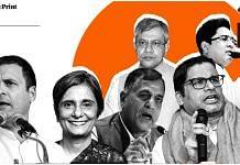 (Clockwise from left) Rahul Gandhi, Ashwini Vaishnaw, Abhishek Banerjee, Prashant Kishor, Ashok Lavasa and Gagandeep Kang   Illustration: Soham Sen