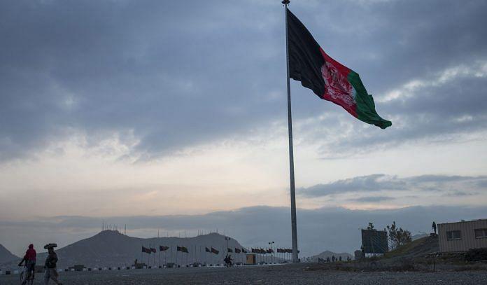 Representational image of an Afghan flag | Photo: Victor J. Blue | Bloomberg