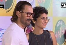 Aamir Khan with wife Kiran Rao. The couple announced their divorce on 3 July 2021 | ANI