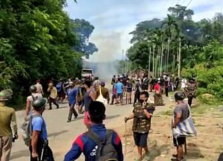 Clashes break out at the Assam-Mizoram border, on 26 July 2021   ANI