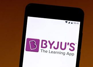 BYJU'S the learning app logo displayed on a smartphone. Photographer: Rafael Henrique/SOPA Images/Getty Images/LightRocket via Bloomberg