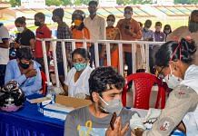 A health worker administers a dose of Covid-19 vaccine to a beneficiary, at a vaccination centre in Ranchi on 21 July 2021  PTI