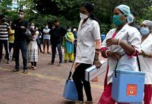 Health workers arrive with Covid-19 vaccines at a health centre in Ranchi, Jharkhand on 25 July 2021 | ANI