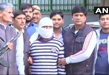 File photo of Indian Mujahideen terrorist Ariz Khan arrested by Delhi Police Special Cell | Twitter /@ANI