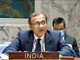File photo of Indian envoy T.S. Tirumurti at the UNSC | Twitter | @ambtstirumurti