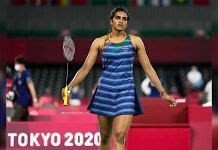 PV Sindhu at the Tokyo Olympics on 25 July 2021   Twitter/@mygovindia