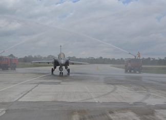 Formal induction ceremony of Rafale aircraft into No. 101 Squadron at Hasimara Air Force Station in West Bengal | Twitter/ANI