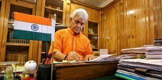Lieutenant Governor of Jammu and Kashmir Manoj Sinha | Photo: Praveen Jain | ThePrint