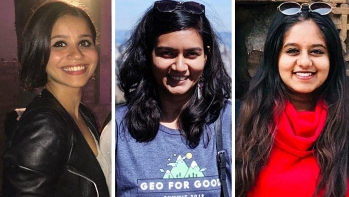(L-R) Tech4Good Community co-founders Anusha Meher Bhargava, Rinju Rajan, Akhila Somanath | Credit: Tech4Good Community