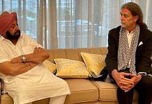 Punjab CM Amarinder Singh with German envoy Walter J Lindner in Chandigarh on 26 July, 2021   Twitter/@capt_amarinder