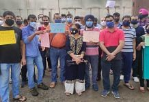 Parents protest outside DPS Dwarka on 13 July   By special arrangement