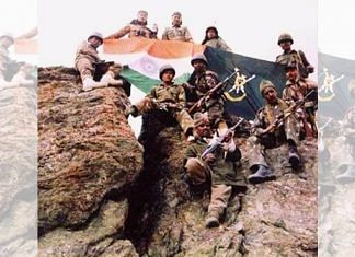 File photo of Indian Army soldiers after capturing a hill during the Kargil war | Photo: Commons