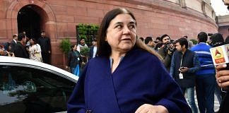 BJP Lok Sabha MP Maneka Gandhi leaves after attending the winter session of Parliament in New Delhi in December 2019   ANI