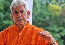 Jammu & Kashmir Lieutenant Governor Manoj Sinha at Raj Bhawan, Srinagar, in July 2021 | Praveen Jain | ThePrint