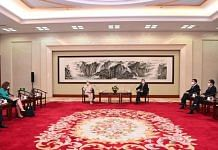 US Deputy Secretary of State Wendy Sherman in a meeting with Chinese Foreign Minister Wang Yi, on 26 July 2021   Twitter/@MFA_China